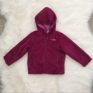 The North Face toddler hooded fleece jacket